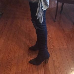 Report Shoes - Thigh high denim boots!